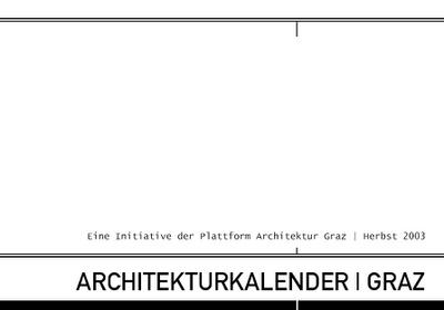 Architekturkalender Graz Bild