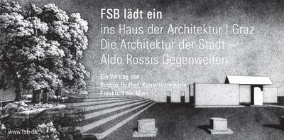 Aldo Rossi: Rathausplatz und Denkmal für den Widerstand, Segrate bei Mailand 1965, perpektivische Ansicht, Mischtechnik auf Transparentpapier