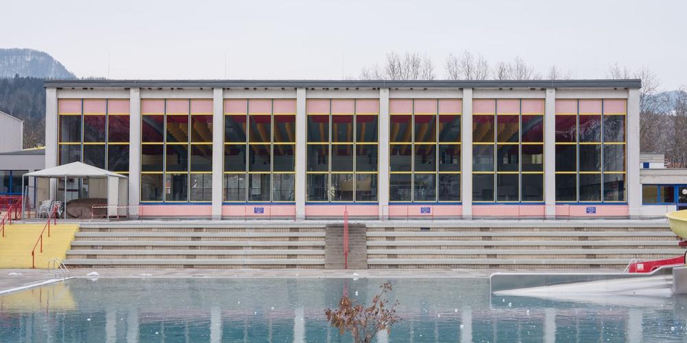 Stadionbad Kapfenberg, Architektur: Ferdinand Schuster