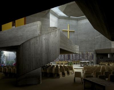 Katholisches Kirchenzentrum Oberwart, Günther Domenig mit Eilfried Huth