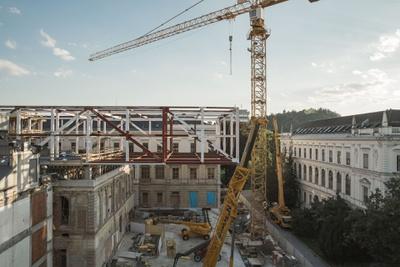 Baustelle Unibibliothek