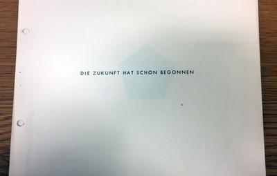 Deckblatt aus dem trigon69-Wettbewerbsbeitrag von Bernhard Frankfurter, Jörg Mayr und Helmut Strobl